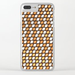 Irregular Chequers - Steel and Copper - Industrial Chess Board Pattern Clear iPhone Case