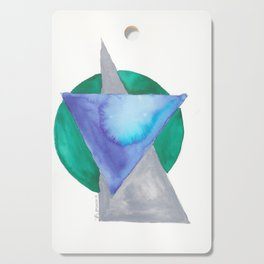 180818 Geometrical Watercolour 3 | Colorful Abstract | Modern Watercolor Art Cutting Board