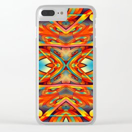Seamless Kaleidoscope Colorful Pattern C Clear iPhone Case