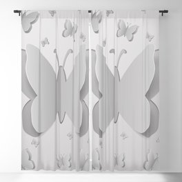 Paper cutout butterflies Blackout Curtain