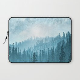 Here Comes The Sun - Misty Forest - Turquoise Laptop Sleeve