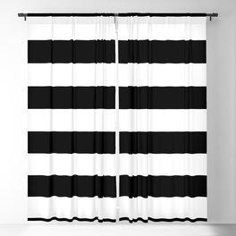 Black White Stripe Minimalist Blackout Curtain