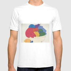Beyond Color #1 - Bowl of Fruit MEDIUM Mens Fitted Tee White