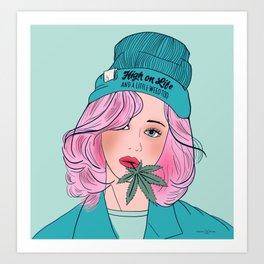 High on Life Art Print