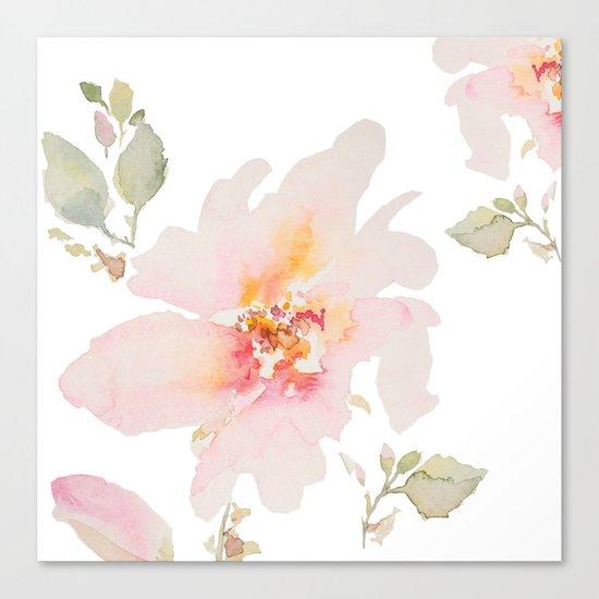 Pink Spring Flower Canvas Print