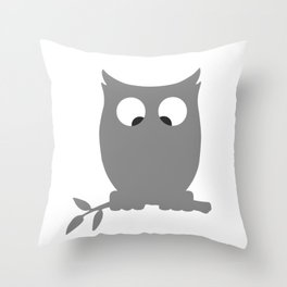 Cross Eyed OWL Throw Pillow