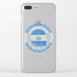 El Salvador Its In My DNA Clear iPhone Case