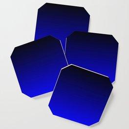 Black and Cobalt Gradient Coaster