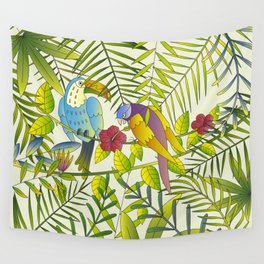 Tropical Paradise Pattern 1 Wall Tapestry