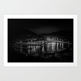 Lyttelton Port at night Art Print