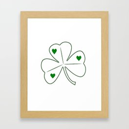 Irish Shamrock Love Framed Art Print