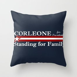 Corleone Standing for Family Throw Pillow