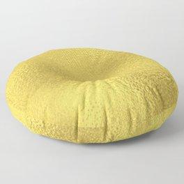 Simply Metallic in Yellow Gold Floor Pillow