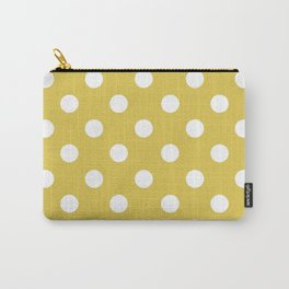 POLKA DOT DESIGN (WHITE-GOLD) Carry-All Pouch