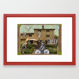 the race Framed Art Print