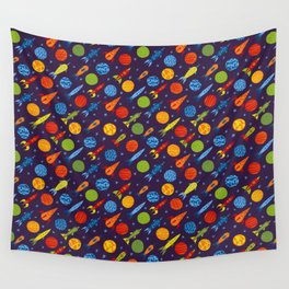 Pattern with rockets Wall Tapestry