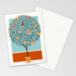 Fruit Tree Geometry Stationery Cards