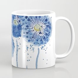 four blue dandelions watercolor Coffee Mug