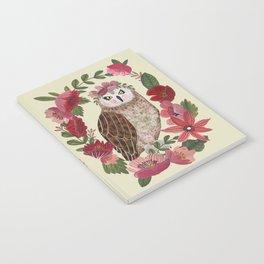 Floral Owl Notebook