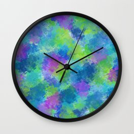 Hydrangeas Abstract Wall Clock