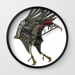 Steampunk Stork Wall Clock