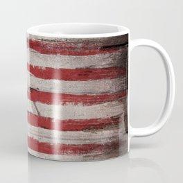 Wood American flag Coffee Mug