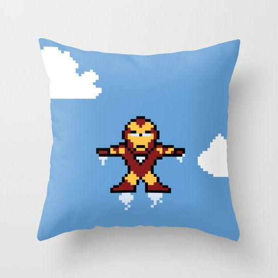 Iron Pixel Throw Pillow