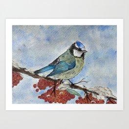 Frosty Bird Art Print
