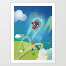 The Eyez - Astronaut Art Print