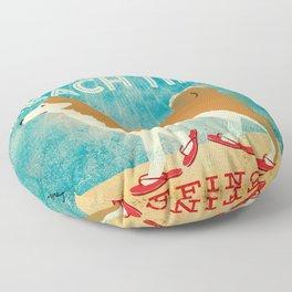 Beach Time Shiba Inu by Stephen Fowler Floor Pillow
