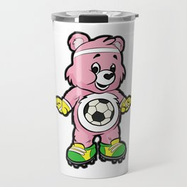SOCCER Player TEDDY Bear Son Daughter Pit Cleats Travel Mug