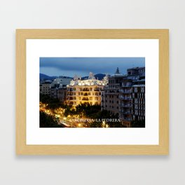 Barcelona. La Pedrera Framed Art Print