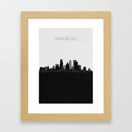 City Skylines: Minneapolis Framed Art Print