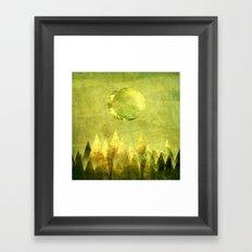 Hushed Moon Framed Art Print