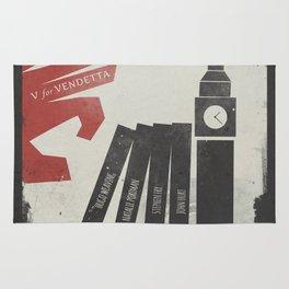 V Vendetta, alternative movie poster, graphic novel, Alan Moore, Natalie Portman, Guy Fawkes, S. Fry Rug