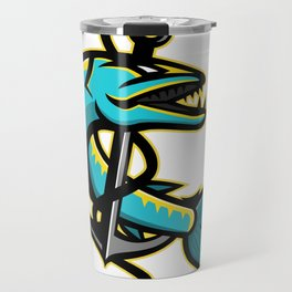 Barracuda and Anchor Mascot Travel Mug