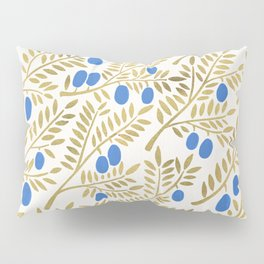 Olive Branches – Gold & Blue Pillow Sham
