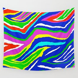 Rainbow Zebra Pattern Wall Tapestry