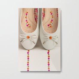 Pretty Ballerina shoes   Metal Print