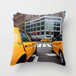 NYC Cabs 2 Throw Pillow