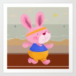 Bunny Runner Art Print