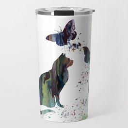 Colorful Cat Art Travel Mug