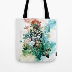 Bird in Flowers Tote Bag