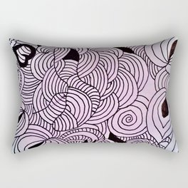 Ether Formation Black and White Rectangular Pillow
