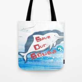 LOVE TAIWAN PINK DOLPHINS / SAVE TAIWAN PINK DOLPHINS Tote Bag