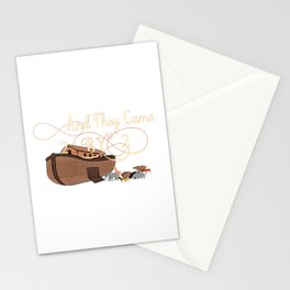 And They Came Two By Two Noahs Ark Animal Lover Stationery Cards