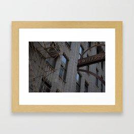 Jewelers Row Framed Art Print