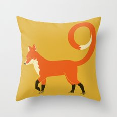9 Tailed Fox Throw Pillow