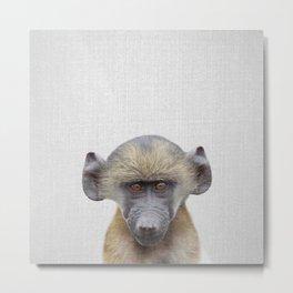 Baby Baboon - Colorful Metal Print