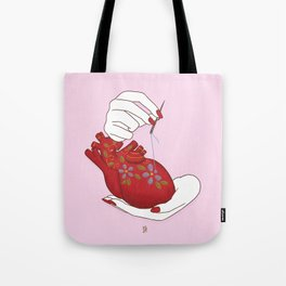 Heart - ( care for your soul ) Tote Bag